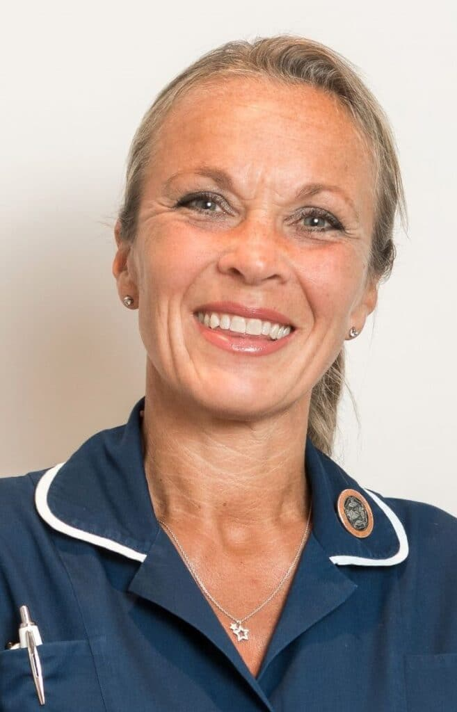 image of sister Leanne, Lead nurse and manager